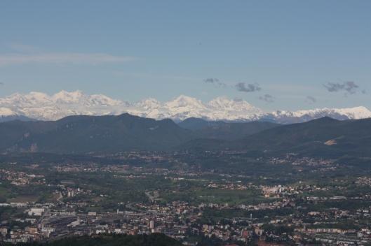 Brunate alps view